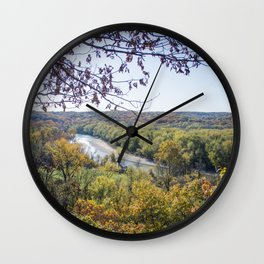 Castlewood - Fall Autumn Forest Photography Wall Clock