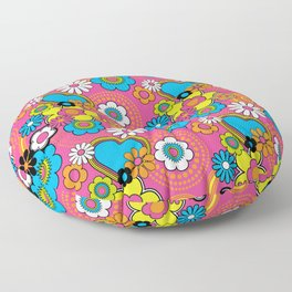 Mod Flowers Floor Pillow