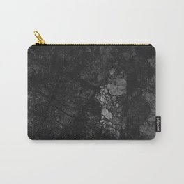 Luxury Black Marble Carry-All Pouch