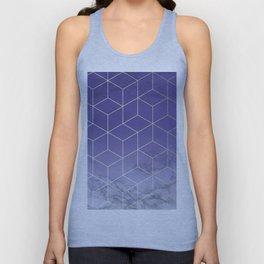 Geometric Marble Ultraviolet Purple Gold Unisex Tank Top