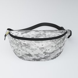 PRETTY SPRING DOGWOOD BLOSSOMS IN BLACK AND WHITE Fanny Pack