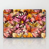 bedding iPad Cases featuring Daylily Drama - a floral illustration pattern by micklyn