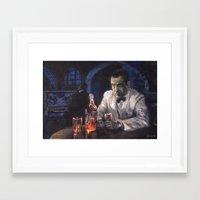 casablanca Framed Art Prints featuring Casablanca by Miquel Cazanya