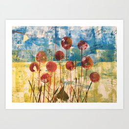 Home Cooked Flowers by Sam Crowe Art Print