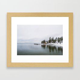 Flat Head Lake, MT Framed Art Print