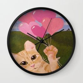 Lovely Kittie Wall Clock