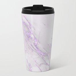 Marble Love Purple Metallic Metal Travel Mug