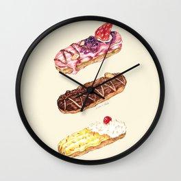 Eclairs Wall Clock