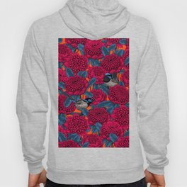 Red waratah and fairy wrens Hoody