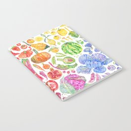 Rainbow of Fruits and Vegetables Notebook