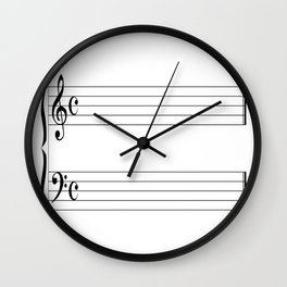 Blank Music Stave Wall Clock