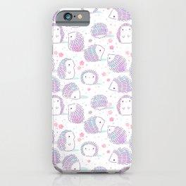 Spring Hedgehog Pattern iPhone Case