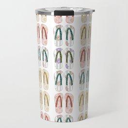 Multi-colored slates, flip-flops Travel Mug