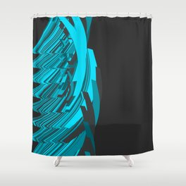 Weird Abstraction Shower Curtain