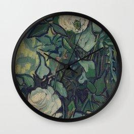 Vincent Van Gogh - Roses and Beetle Wall Clock