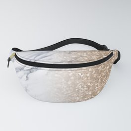 Bronze Copper Gold Glitter White Gray Marble Luxury III Fanny Pack