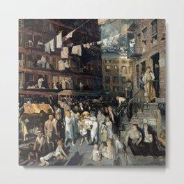 """George Wesley Bellows """"Cliff Dwellers"""" Metal Print"""