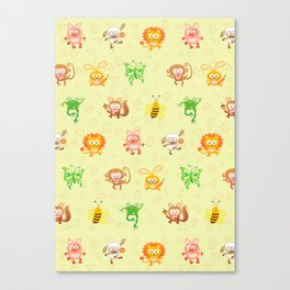 Baby animals Canvas Print