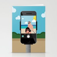 selfie Stationery Cards featuring Selfie? by Chiara Belmonte