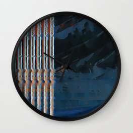 landscape collage #26 Wall Clock