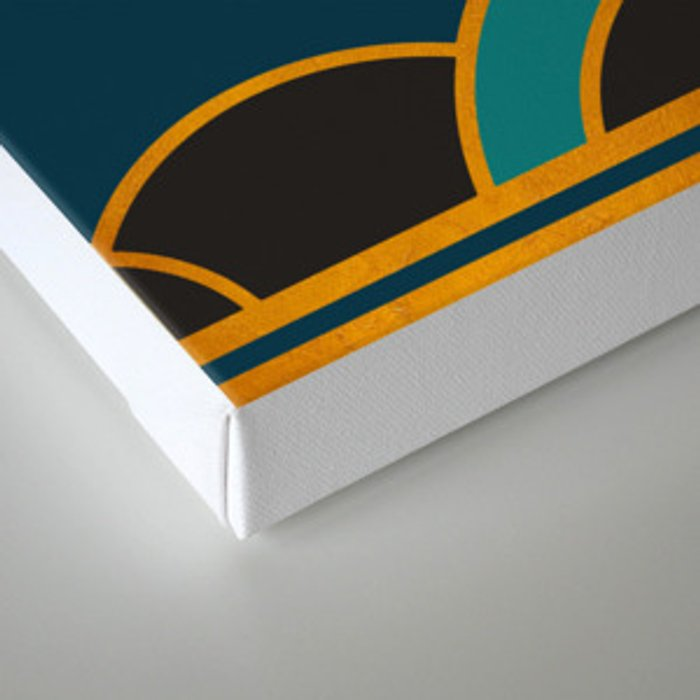 Art Deco New Tomorrow In Turquoise Canvas Print