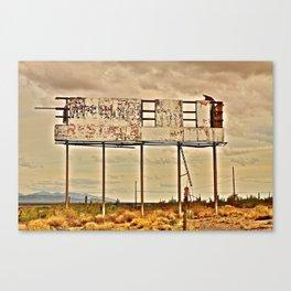 Abandoned Billboard Canvas Print