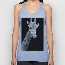 B&W Giraffe Portrait Unisex Tank Top