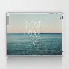Love Laugh Live #2 Laptop & iPad Skin