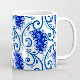 Paisley Porcelain blue and white Coffee Mug