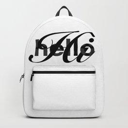 Hello Hi black greeting Backpack