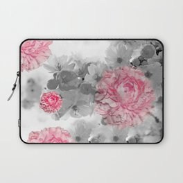 ROSES PINK WITH CHERRY BLOSSOMS Laptop Sleeve