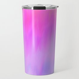 Hand painted pink lilac blue watercolor brushstrokes Travel Mug