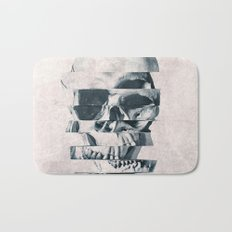 Glitch Skull Mono Bath Mat