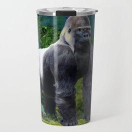 Silverback Gorilla Guardian of the Rainforest Travel Mug