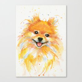 Happy Pomeranian Canvas Print
