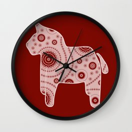 Red Horse Wall Clock