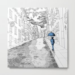 The umbrella man Metal Print