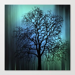Treescape Blue Canvas Print