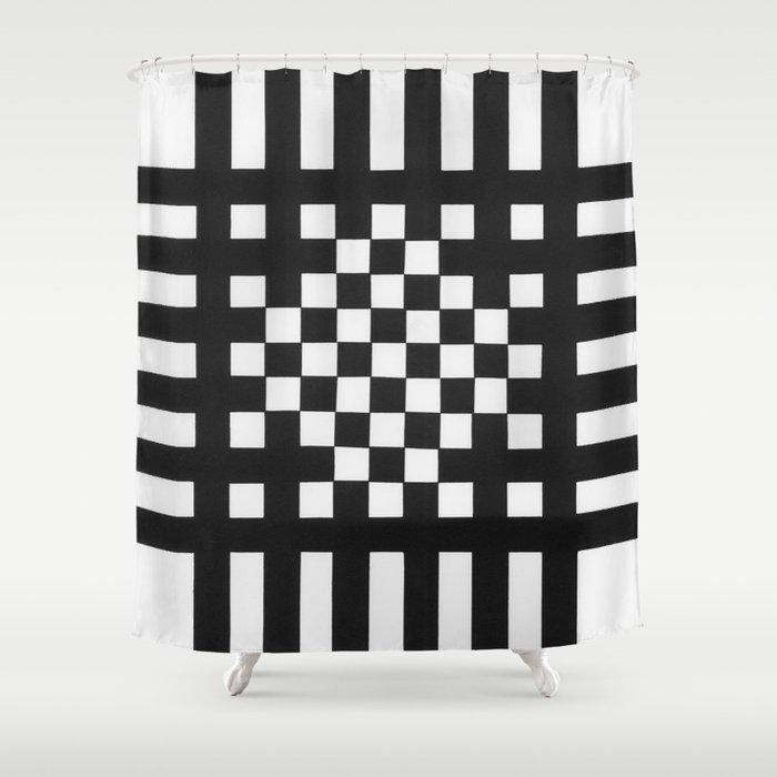 Interwoven Stripes Shower Curtain