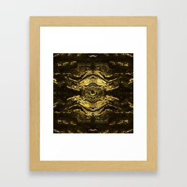 All Seeing eye golden texture on aged wood Framed Art Print
