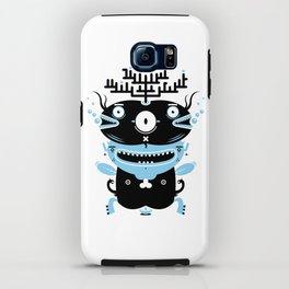Black and blue fish creature iPhone Case