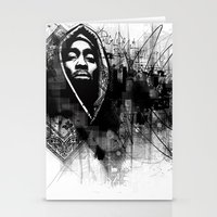 2pac Stationery Cards featuring 2Pac Illustration by Skillmatik by Mr Skillmatik