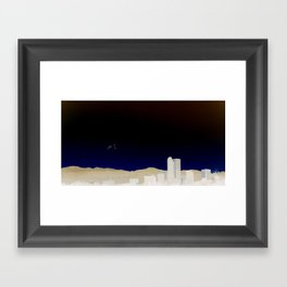 Denver Flyby Framed Art Print