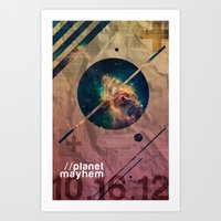 Planet Mayhem Art Print