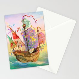 The Dreamship Gallivant Stationery Cards