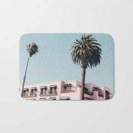 Pink Building Downtown Santa Monica California Bath Mat