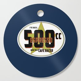 SRC Preparations Racecar Rebels: Cafe Racer Cutting Board