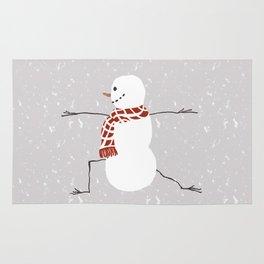 Snowman yoga - Warrior II Rug