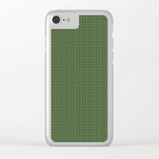 Knitted spring colors - Pantone Kale Clear iPhone Case