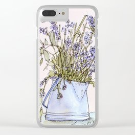 Wildflowers Botanical Flowers in Pitcher Clear iPhone Case